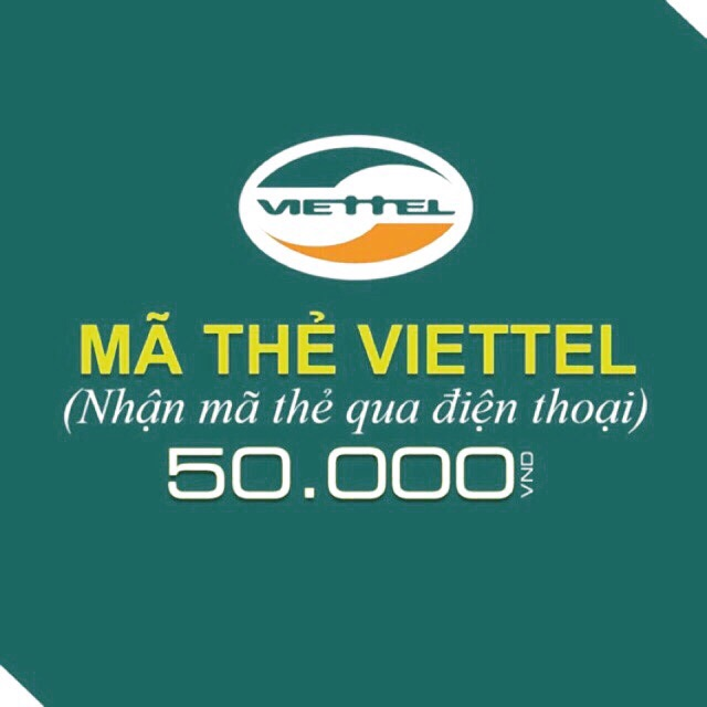 Mã thẻ/Nạp tiền Viettel 50k