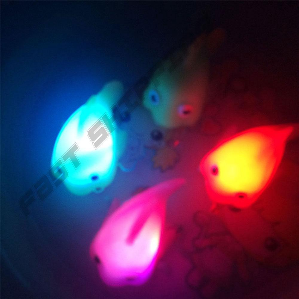 Water Induction Flashing Light Up Fish Toys Gifts Baby Bathing Creative