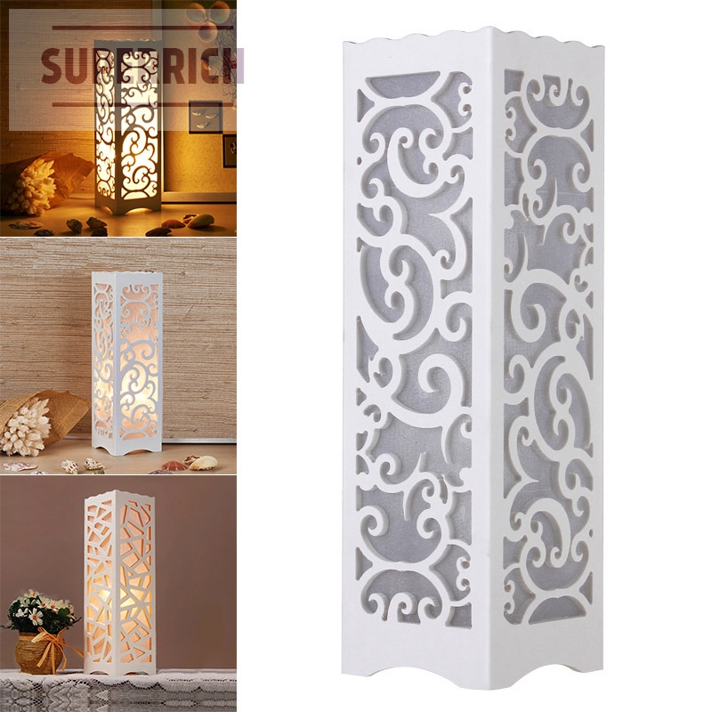 Night Light Table Lamp Hollow Modern Portable Durable for Study Bedroom Bedside