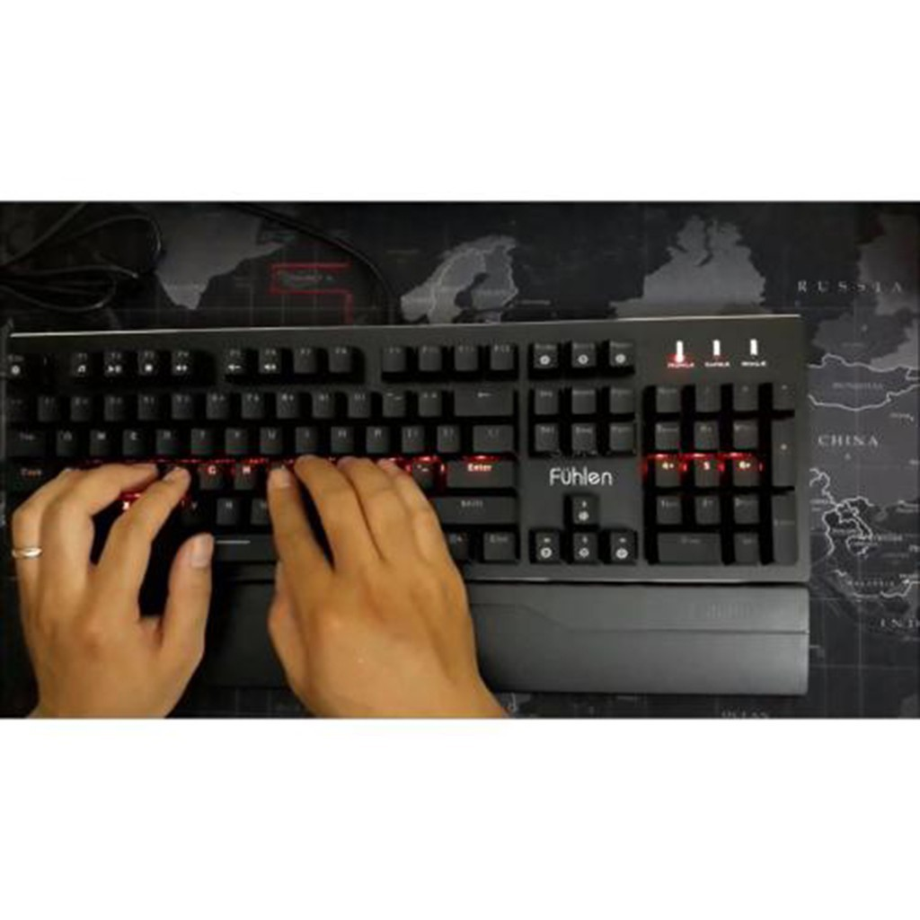 Bàn phím cơ Gaming Fuhlen Eraser - Fuhlen E  - Led Rainbow - Chính hãng - Có tem chống hàng giả - Bảo hành 24 tháng