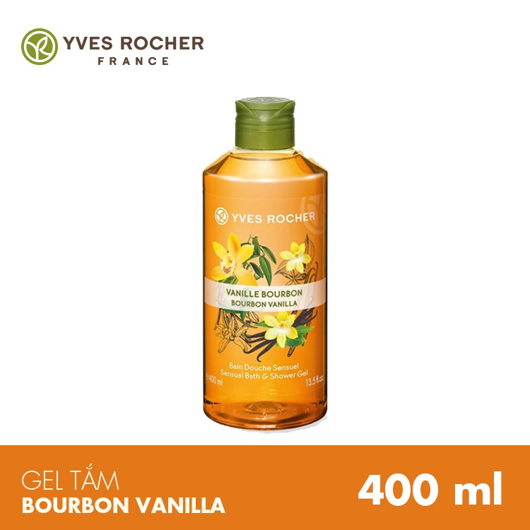 Gel Tắm Yves Rocher Hương Bourbon Vanilla Bath And Shower Gel 400ml