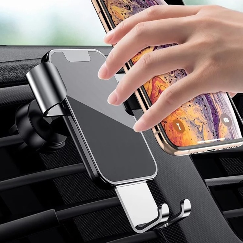 Giá Đỡ Điện Thoại Gắn Lỗ Thông Gió Xe Ô Tô Bằng Hợp Kim Cho Iphone Samsung