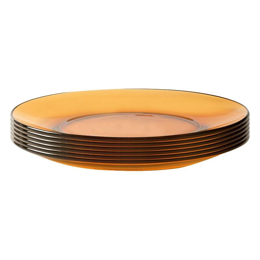 Bộ 6 Đĩa thuỷ tinh Amber 19cmDURALEX-3008DF06C1111