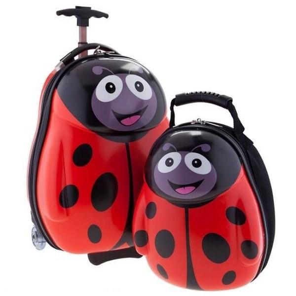 Bộ vali kéo + balo đeo Cuties hình con vật