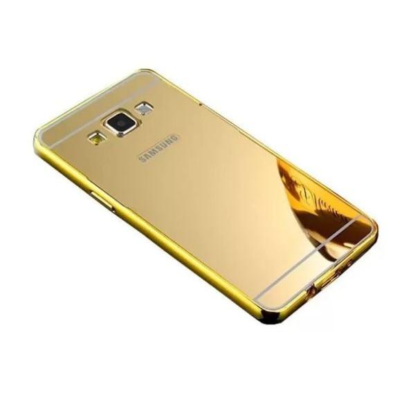Ốp lưng Nillkin Samsung Galaxy E5 nguyên khối gương (Vàng)