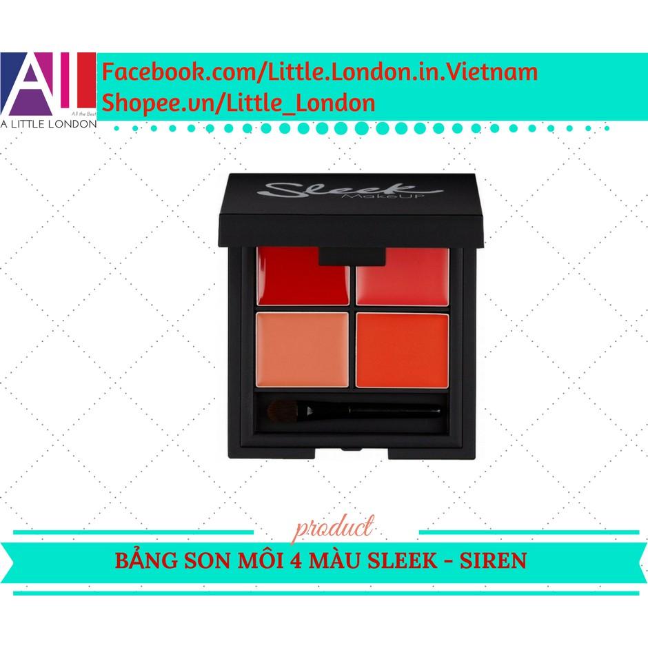 Bảng son môi 4 ô Sleek lip 4 Palette - Siren (Bill Anh) - 2976494 , 136631288 , 322_136631288 , 269000 , Bang-son-moi-4-o-Sleek-lip-4-Palette-Siren-Bill-Anh-322_136631288 , shopee.vn , Bảng son môi 4 ô Sleek lip 4 Palette - Siren (Bill Anh)