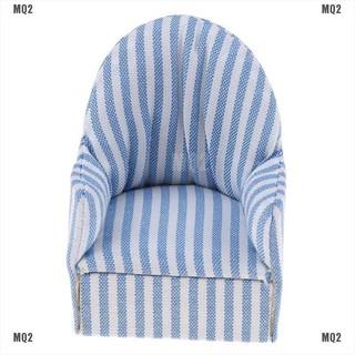 [MQ2]1:12 dollhouse miniature furniture stripe sofa chair for bed room living room