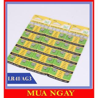 Pin cúc áo pin điện tử đồng hồ LR44 AG13 LR41 AG3 CR2032 loại tốt: 1 viên