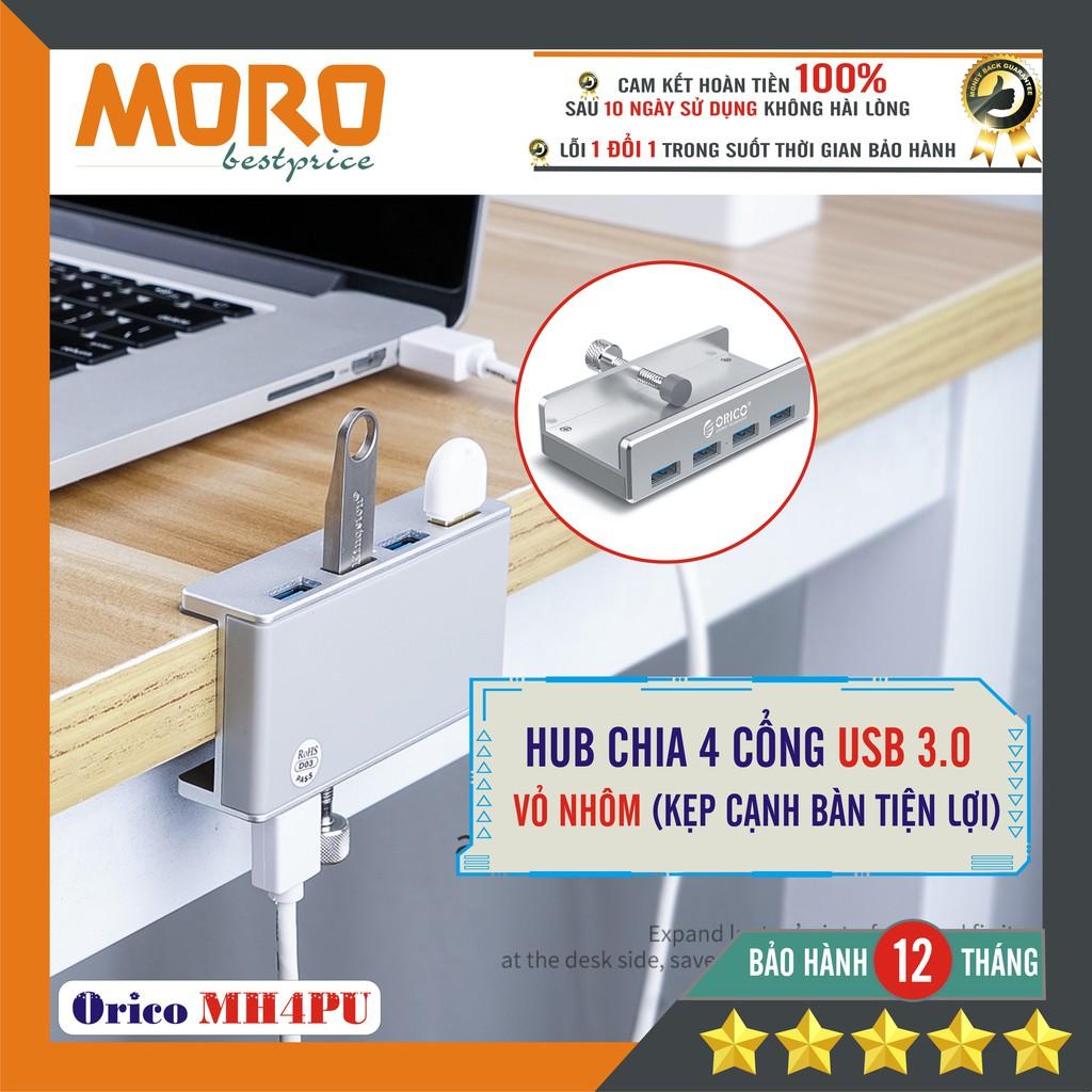[Mã ELMORO08 giảm 20k đơn 250k]Bộ hub chia 4 cổng USB 3.0 – ORICO MH4PU – chính hãng bảo hành lỗi 1 đổi 1 !!! Giá chỉ 195.000₫
