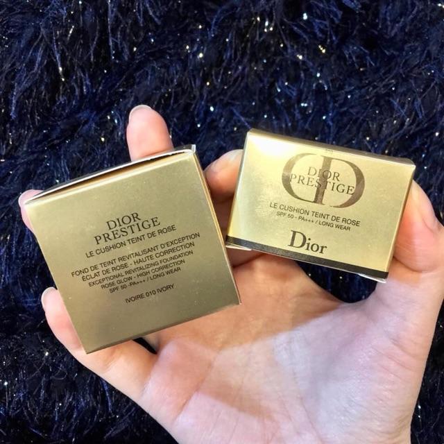 Kết quả hình ảnh cho Cushion Dior Prestige Le Cushion Teint De Rose #010 Ivory