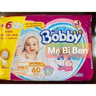 [Tặng kèm 6 miếng] Miếng Lót Sơ Sinh Bobby Newborn 2 60 Miếng