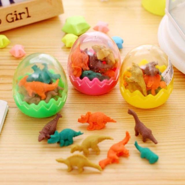 [ COMBO SỈ] - Hộp 24 quả trứng tẩy khủng long xinh xắn
