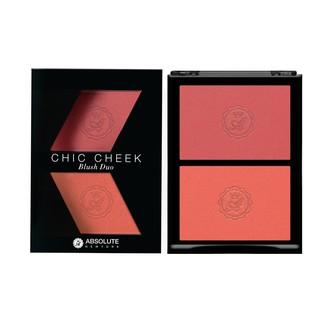 Phấn má hồng Absolute Newyork Chic Cheek Blush Duo MFBD04 Pure Pink Paypaya Matte 8g - 2 ô