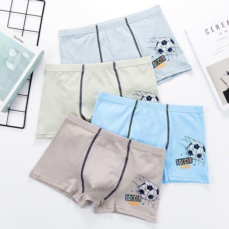 Teen Young Men's Cotton Underwear Male Student Pants Anime Men's Short Pants Men's Four-Corner Cartoon Breathable Tide