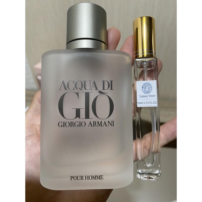 [chiết auth] Nước hoa chiết dung tích 10ml Nước hoa Acqua Di Giò Pour Homme 10ML
