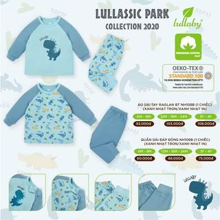 [LULLABY CHÍNH HÃNG] Bộ Thu Đông Bé Trai, Thời trang của bé từ 0 đến 4 tuổi, Dài Tay, Màu Xanh, Vải cotton thấm hút tốt