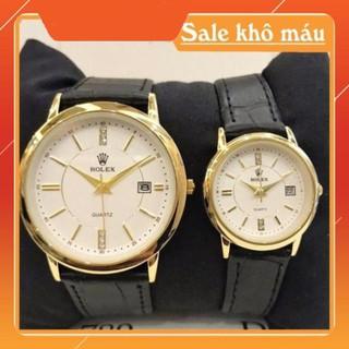 [Siêu Phẩm] [Free Sip] [Siêu Phẩm] Đồng hồ cặp đôi Nam (nữ) Rolex RL110 Class dây da cao cấp -MTP-STORE thumbnail