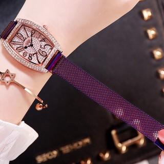 Đồng hồ thời trang nữ DZG dây lưới nam châm đính đá cực đẹp SC763