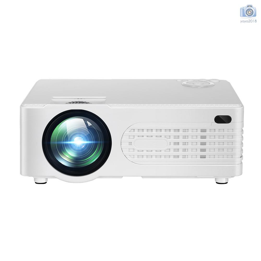 Mini Projector Portable LED Projector 30000 Hours Lamp life 2200 Lumen Brightness Max. 120 Inch Display Compatible with