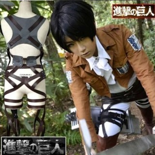 Hóa trang Halloween Cosplay Eren , Mikasa , Levi trong phim Attack on Titan