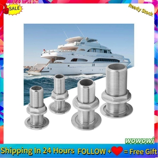 Wowowi Thru Hull Fitting Connector Stainless Steel MJS022 Outlet Joint for Boats Yacht Hose