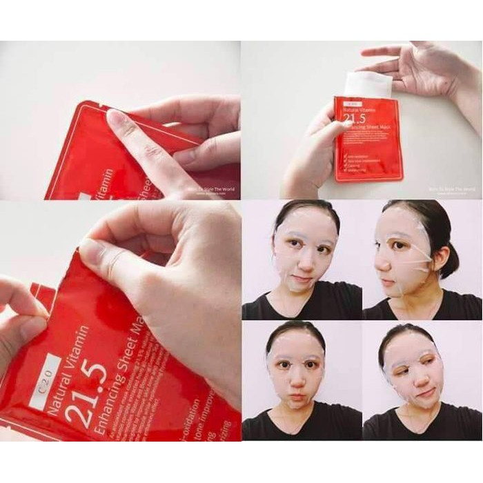 Mặt Nạ By Wishtrend Natural Vitamin 21.5 Enhancing Sheet Mask | Shopee Việt  Nam