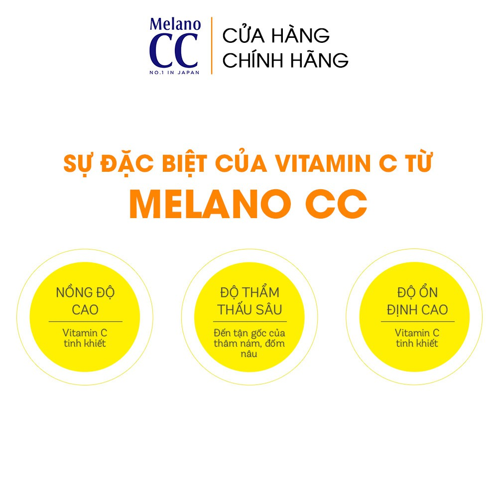 Tinh chất dưỡng trắng da chống thâm nám Melano CC Whitening Essence 20ml