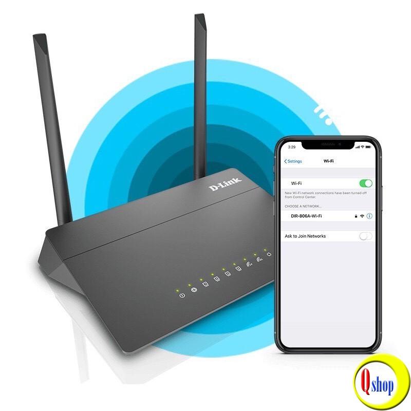 Bộ phát wifi D-Link DIR-806A Chuẩn AC750 băng tần kép