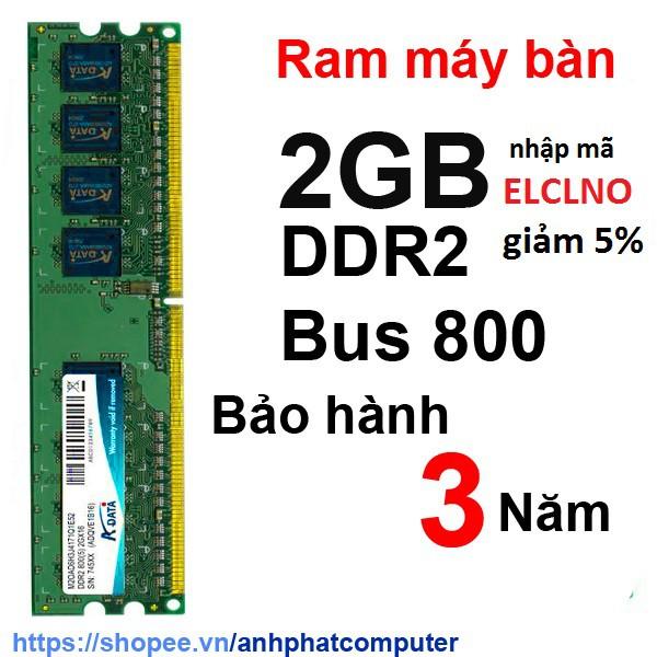 Ram DDR2 2GB Bus 800 máy tính bàn - 3282735 , 404327341 , 322_404327341 , 180000 , Ram-DDR2-2GB-Bus-800-may-tinh-ban-322_404327341 , shopee.vn , Ram DDR2 2GB Bus 800 máy tính bàn