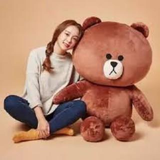 Gấu brown khổ vải 1m3
