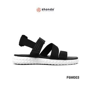 Giày Sandal Shat F6 đen full đế trắng Unisex F6M003 thumbnail