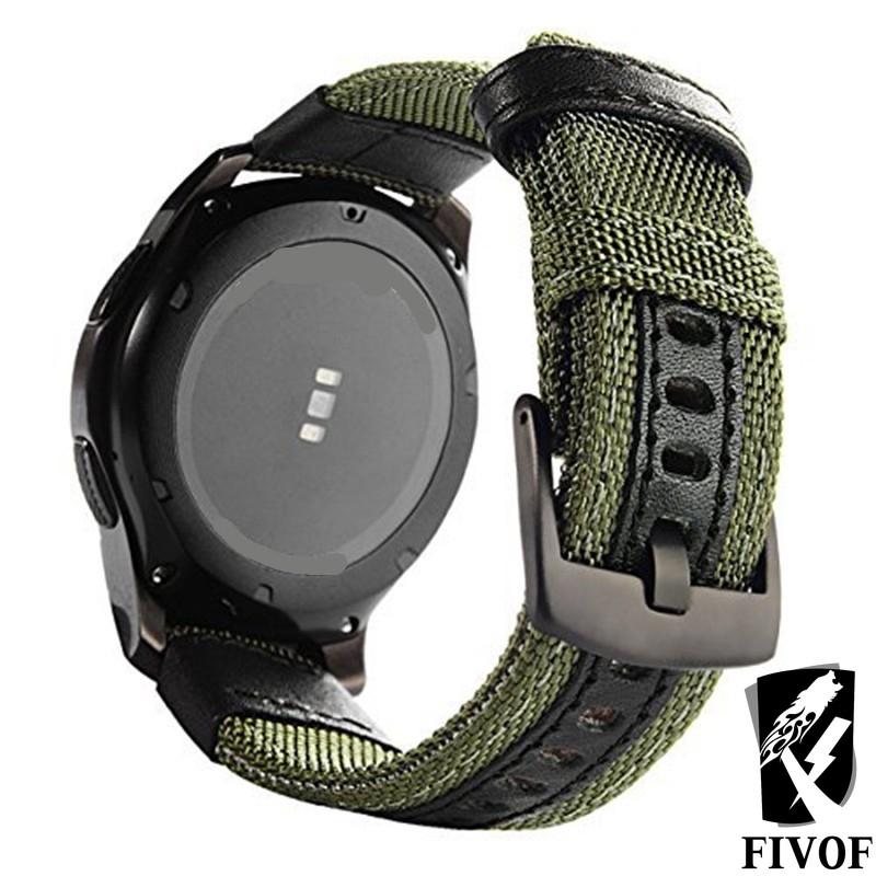 dây đeo bằng da thật 42/46mm cho đồng hồ thông minh samsung gear s3
