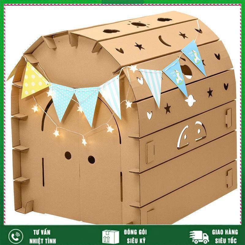 [FREE SHIP] Nhà bìa carton lắp ráp|nhà đồ chơi lắp ghép thông minh cho bé| Phát triển sự sáng tạo của trẻ