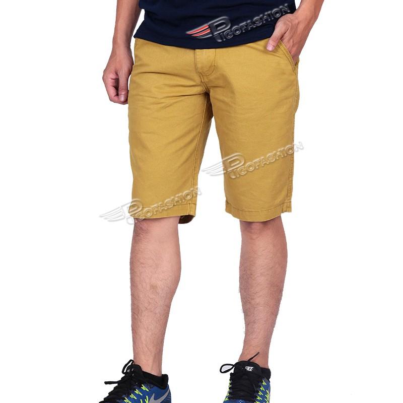 Quần short kaki nam cao cấp PSk3 (xanh bích)