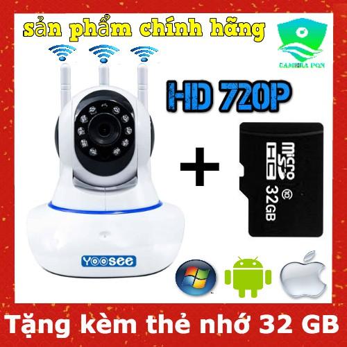 Camera kèm thẻ 32GB - Camera Yoosee 3 Râu 1.0 HD 720P Siêu Sắc Nét