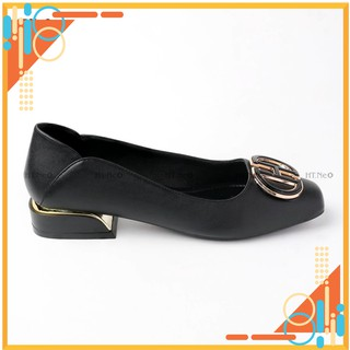 Giày cao gót nữ 3p - giày da nữ HT.NEO (2) da bò mềm mại, thiết kế đế cực bắt mắt, đính chữ siêu đẹp CS157 thumbnail