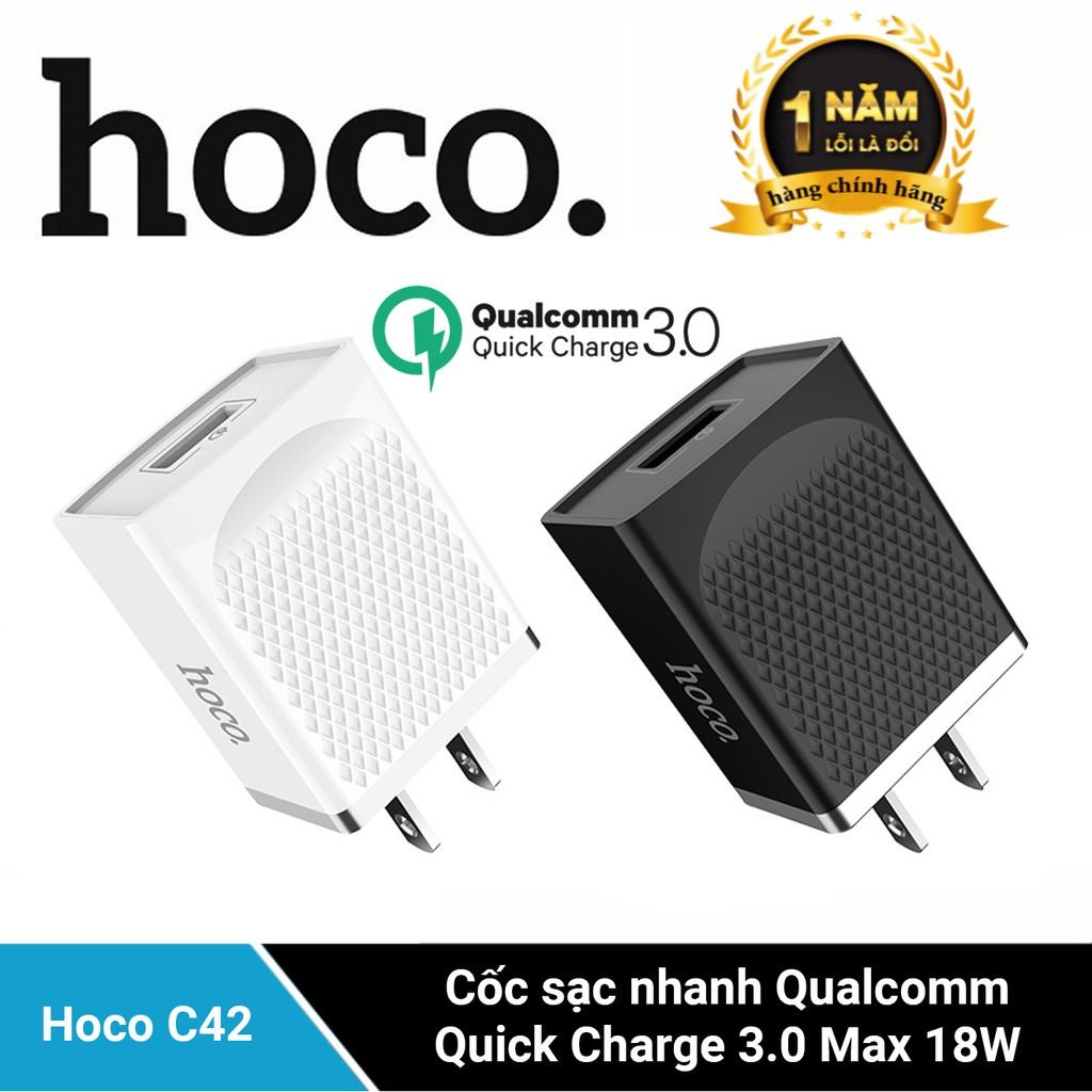 Cốc sạc Hoco C42 công nghệ sạc nhanh 3.0A 18W sạc iPhone 11, 11pro max huawei p