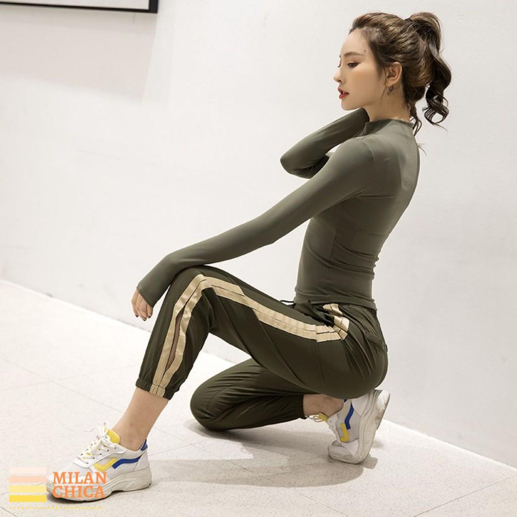 Quần Dài Jogger Có Túi Thể Thao Nữ Bana (Đồ Tập Gym,Yoga)(Không Áo) - Cửa Hàng Việt Nam - Livan Sport