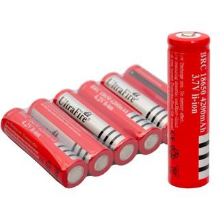 Pin Sạc 3.7V Đỏ ULTRA FIRE Loại 1 Xịn Dùng Cho Quạt, Đèn Pin, Bóng Đèn Đa Năng Tiện Lợi thumbnail