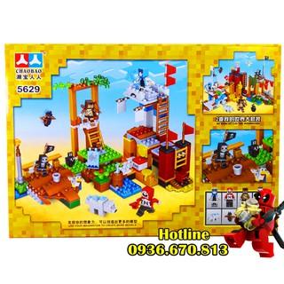 Bộ Lego Xếp Hình Mineecraft My World Cướp Biển 5629 . Gồm 331 Chi Tiết. Lego Ninjago Lắp Ráp Đồ Chơi Cho Bé.