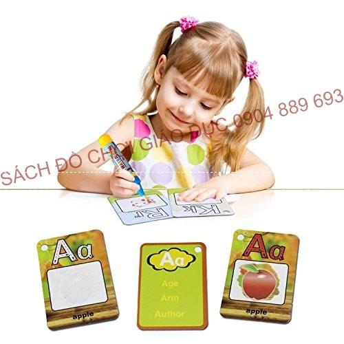 Water Magic Word Cards - Thẻ học chữ cái thần kỳ bé nào cũng mê tít gồm 26 thẻ