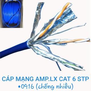 Cáp mạng AMP.LX CAT 6 STP chống nhiễu (0916) hàng chính hãng thích hợp thi công mạng