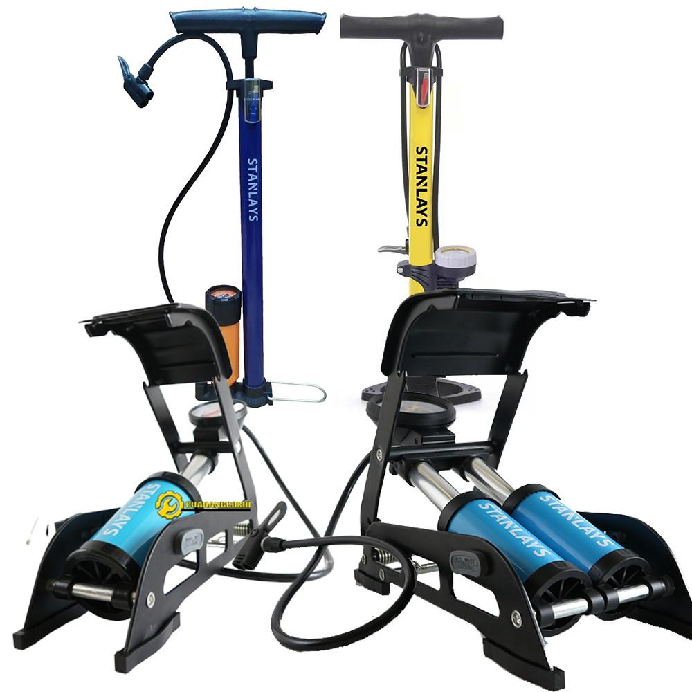 Bơm hơi xe máy mini - Bơm xe máy đạp chân loại tốt -Bảo hành 24 tháng