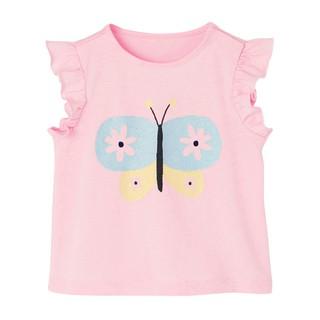 Mã 51815 áo bé gái sát nách may cánh tiên in hình con vật dễ thương của Little Maven