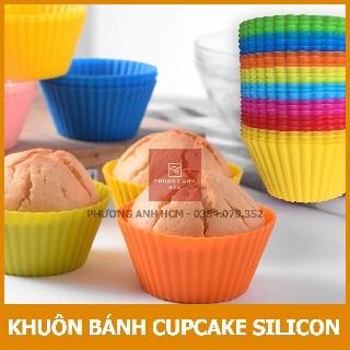Khuôn Cupcake Silicon/ Khuôn Làm Bánh Bông Lan Cupcake, Muffin, Thạch, Rau Câu (7cm)