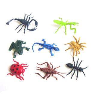 8pcs/set Plastic Insect Reptile Model Figures Kids Favor Educational Toys