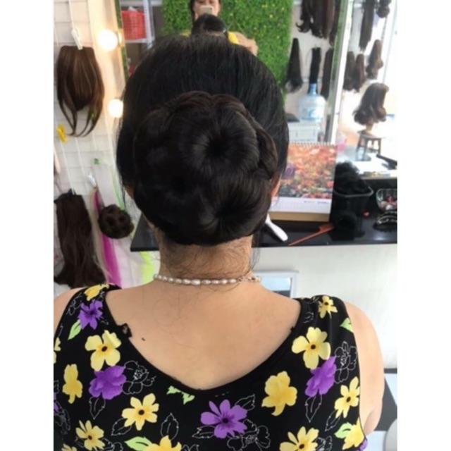 Tóc giả trung niên ❤️FREESHIP❤️ Tóc giả búi hoa kẹp