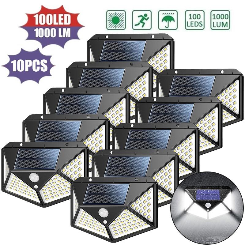 Đèn Led 100 Bóng Cảm Biến Chuyển Động 3 Chế Độ Sử Dụng Năng Lượng Mặt Trời