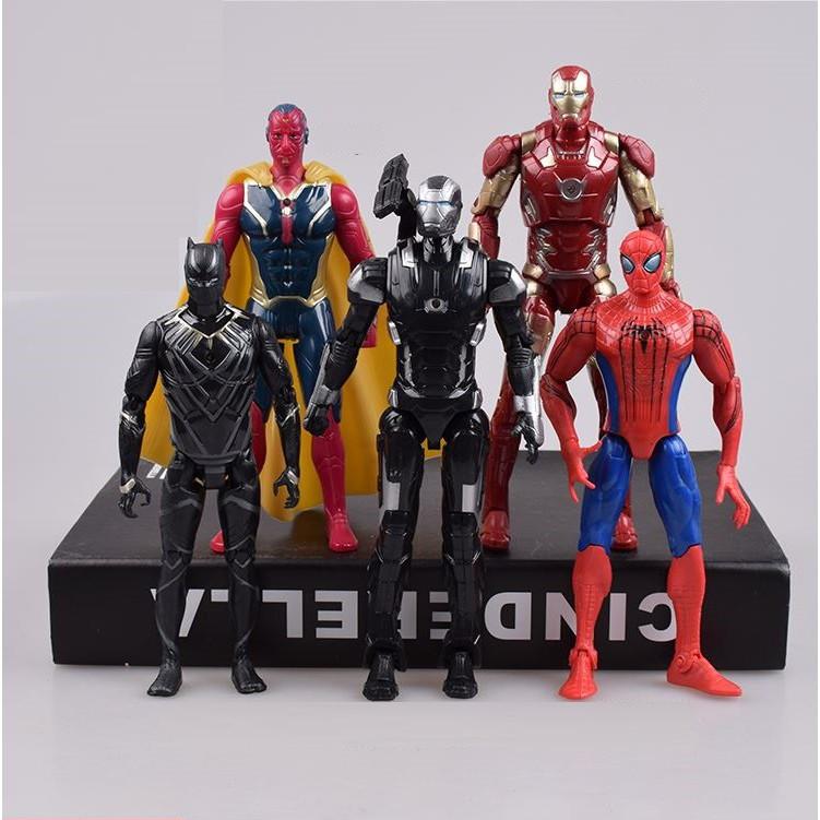 ... Mô hình 5 siêu anh hùng team Iron Man Marvel trong Captain America  Civil War cao ...