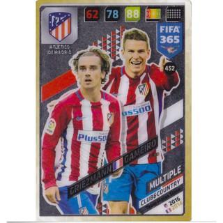 Thẻ Cầu Thủ/Thẻ Bóng Đá Panini FIFA 365 Multiple – Griezmann/Gameiro – Atletico Madrid